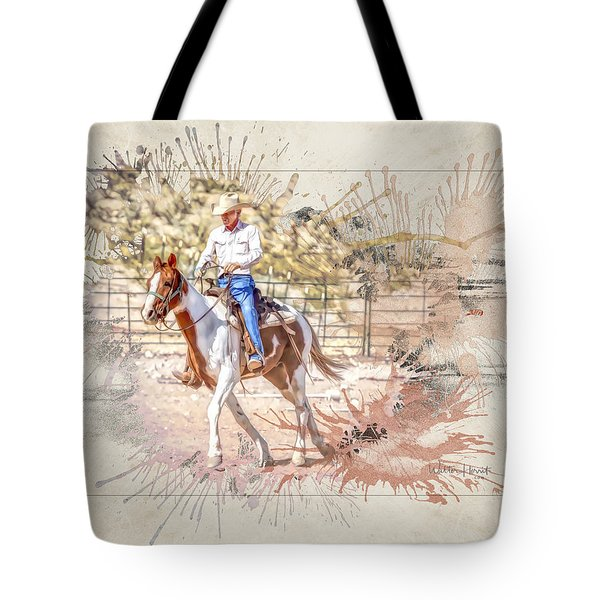 Ranch Rider Digital Art-b1 Tote Bag