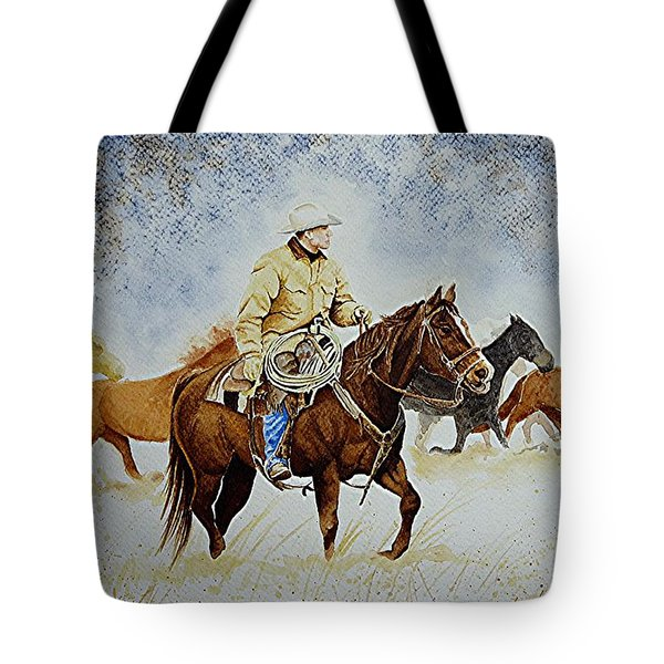 Ranch Rider Tote Bag by Jimmy Smith