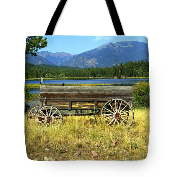 Ranch Wagon 3 Tote Bag by Marty Koch
