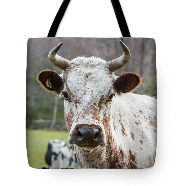Tote Bag featuring the photograph Randall Cow by Bill Wakeley