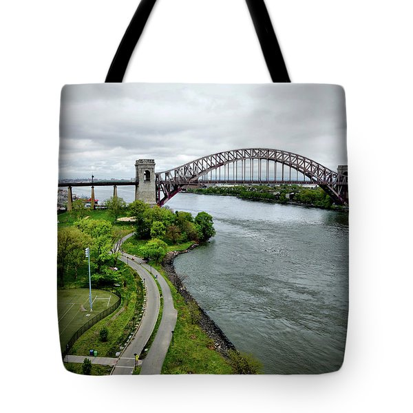 Randall's Island To Hellgate Tote Bag