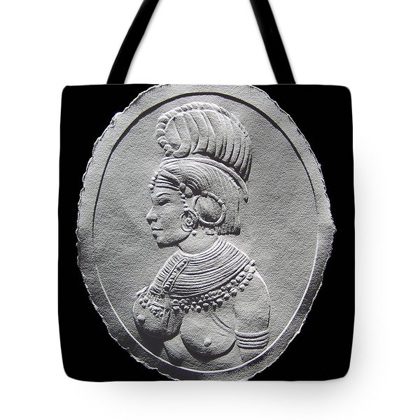 Randille Tribe Woman Relief Drawing Tote Bag
