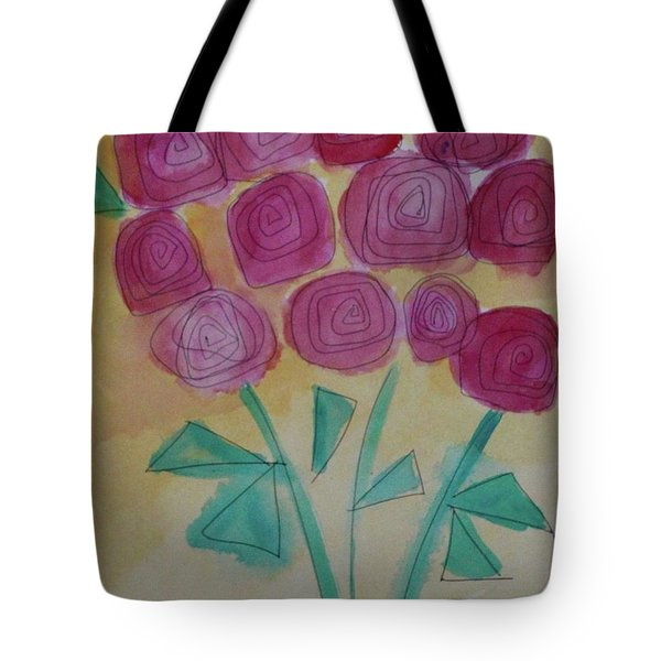 Tote Bag featuring the painting Randi's Roses by Kim Nelson