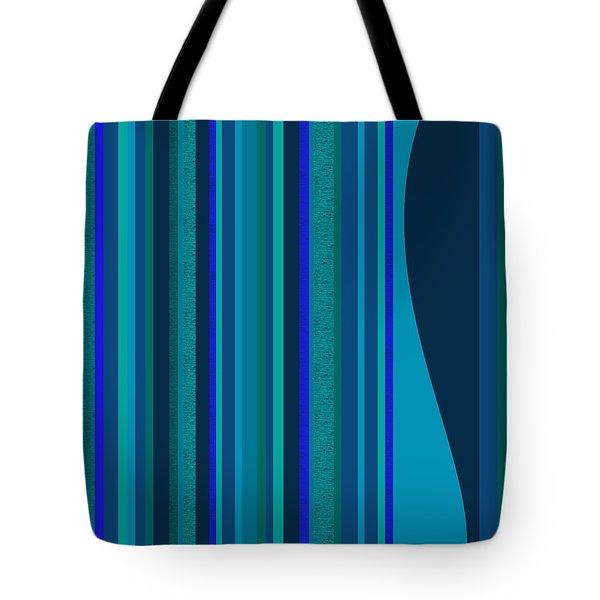 Random Stripes - Electric Blue Tote Bag