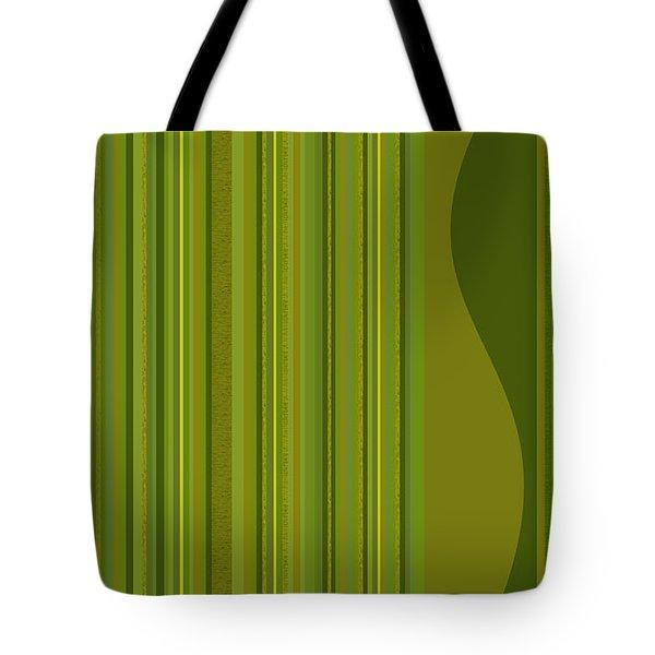 Random Stripes - Golden Green Tote Bag