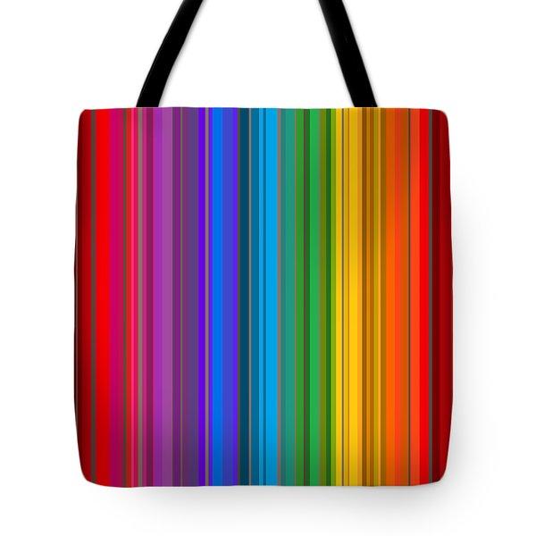 Random Stripes - Rainbow Stripe Tote Bag