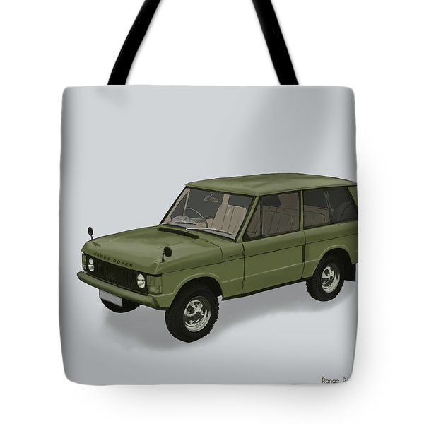 Tote Bag featuring the mixed media Range Rover Classical 1970 by TortureLord Art