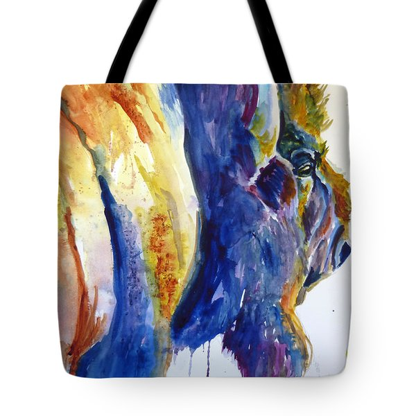 Tote Bag featuring the painting Range Rover by P Maure Bausch
