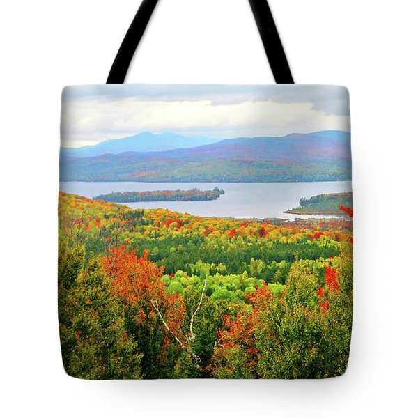 Rangeley Lake And Rangeley Plantation Tote Bag