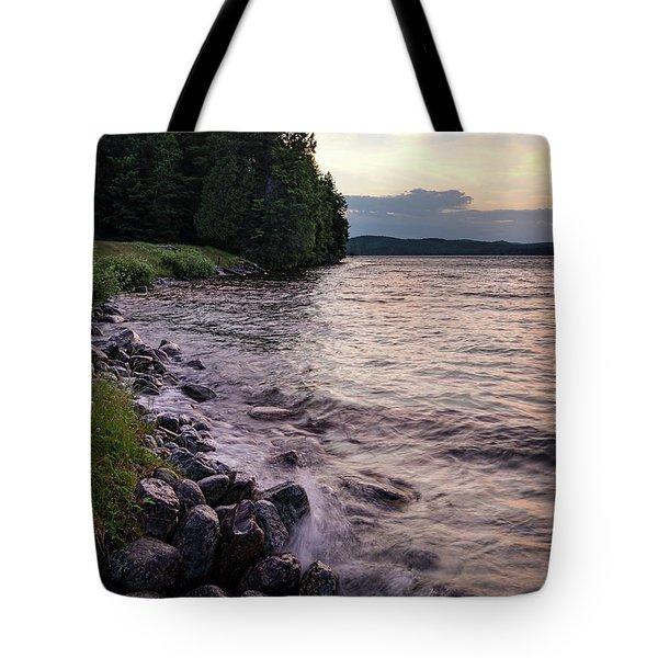 Rangeley Lake State Park In Rangeley Maine  -53215-53218 Tote Bag