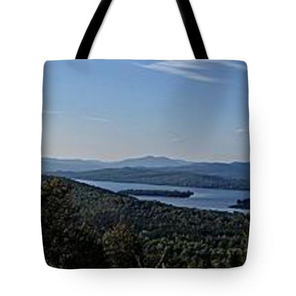 Rangeley Lake Sunset Panoramic Tote Bag