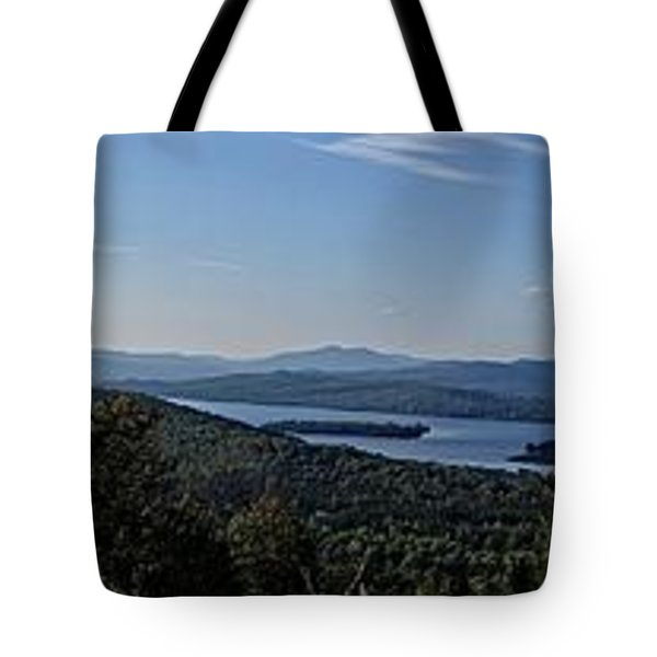 Rangeley Lake Sunset Panoramic Tote Bag