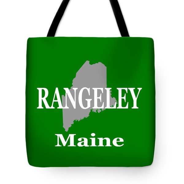 Tote Bag featuring the photograph Rangeley Maine State City And Town Pride  by Keith Webber Jr