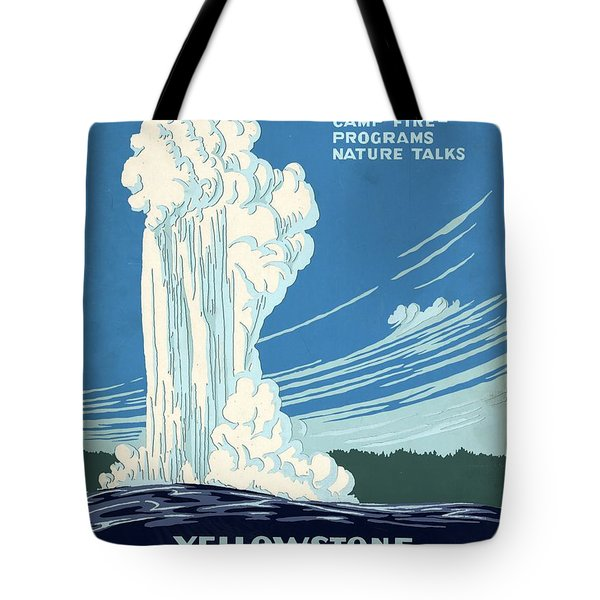 Ranger Naturalist Service - Yellowstone National Park - Retro Travel Poster - Vintage Poster Tote Bag