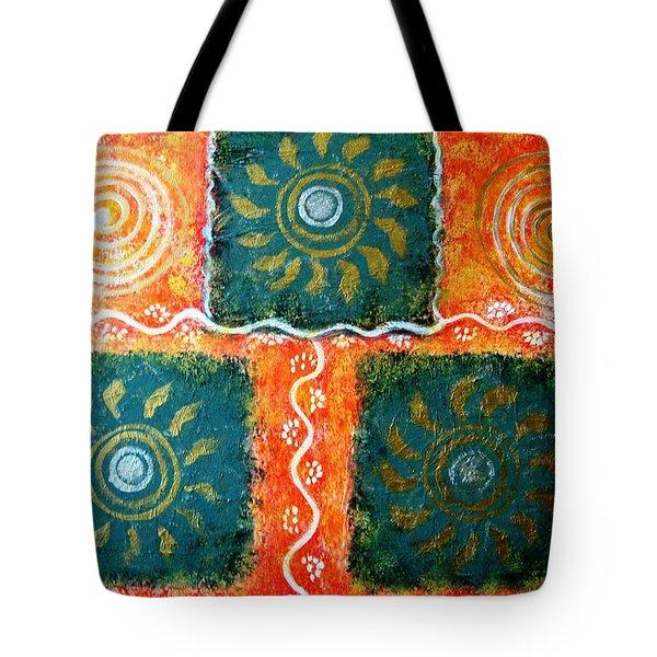 Rangoli Abstract Painting Tote Bag