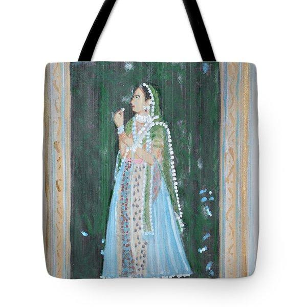 Rani Waiting For Her Raja Tote Bag by Vikram Singh