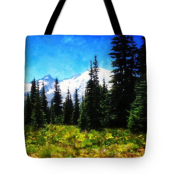 Ranier Mountain Meadow Tote Bag