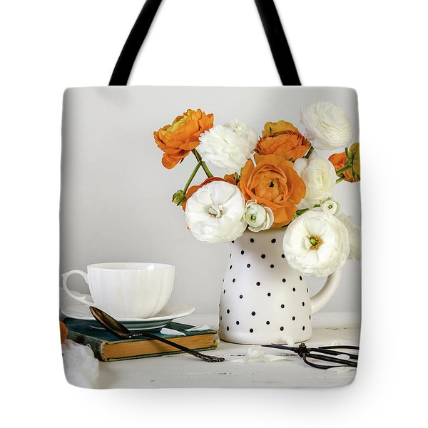 Tote Bag featuring the photograph Ranunculus Bouquet by Kim Hojnacki