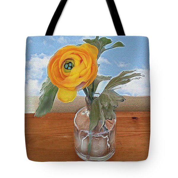 Tote Bag featuring the digital art Ranunculus Spring by Alexis Rotella