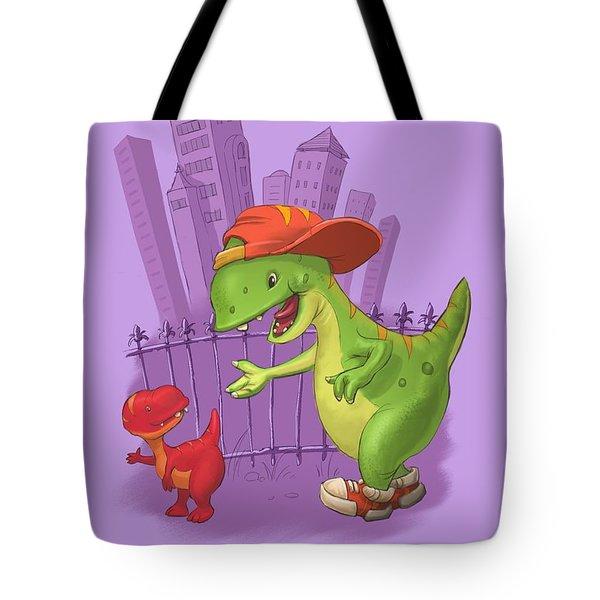 Rap-rap Raptor City Tote Bag