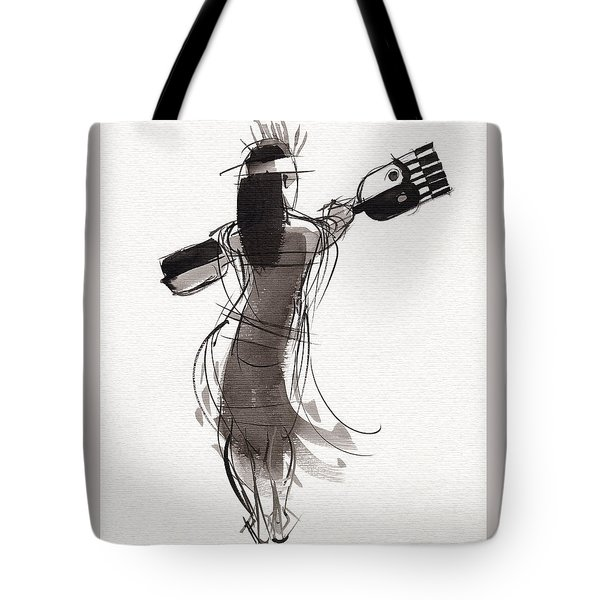 Tote Bag featuring the painting Rapa Nui Dancer by Judith Kunzle