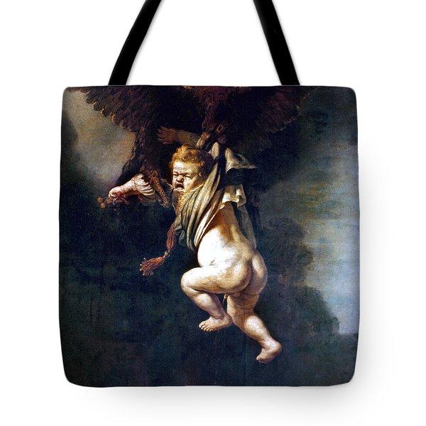Rape Of Ganymede Tote Bag by Granger