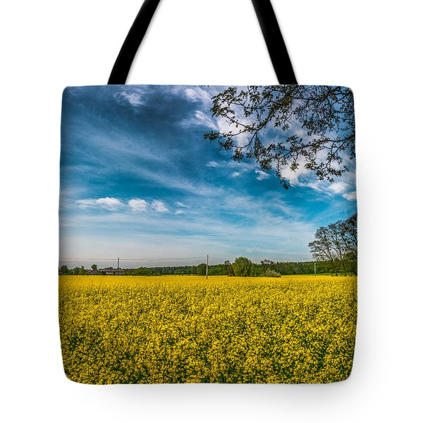 Tote Bag featuring the photograph Rapeseed Field by Dmytro Korol