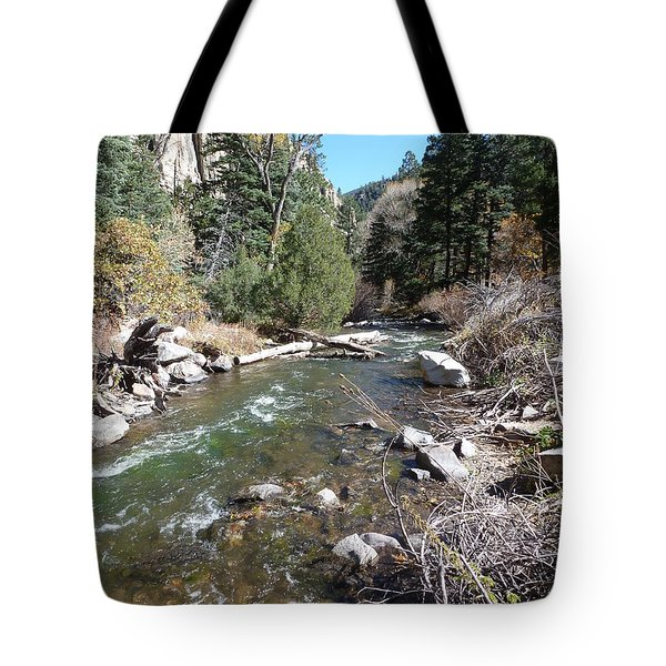 Tote Bag featuring the photograph Rapid Stream by Constance DRESCHER