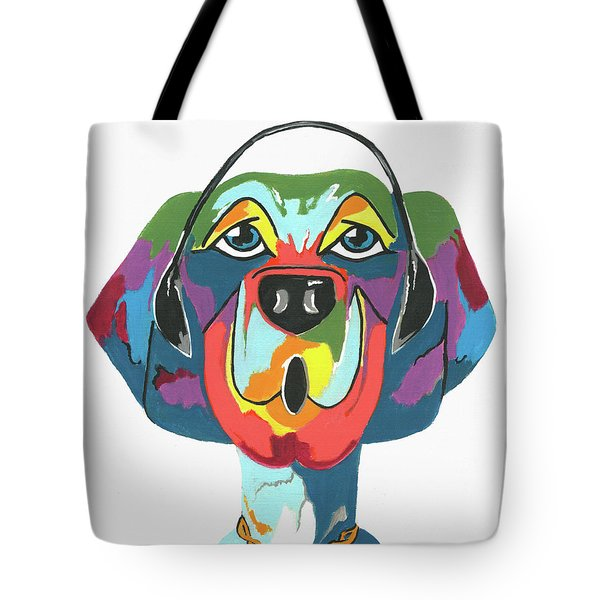 Rapping Rover - Funny  Dog Tote Bag