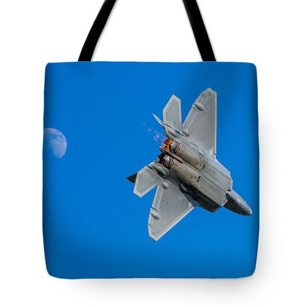 Raptor Moon Tote Bag by Mark Goodman
