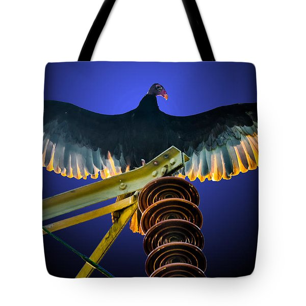 Raptor Radiance Tote Bag
