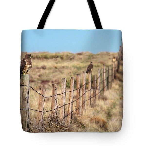 Raptor Row Tote Bag