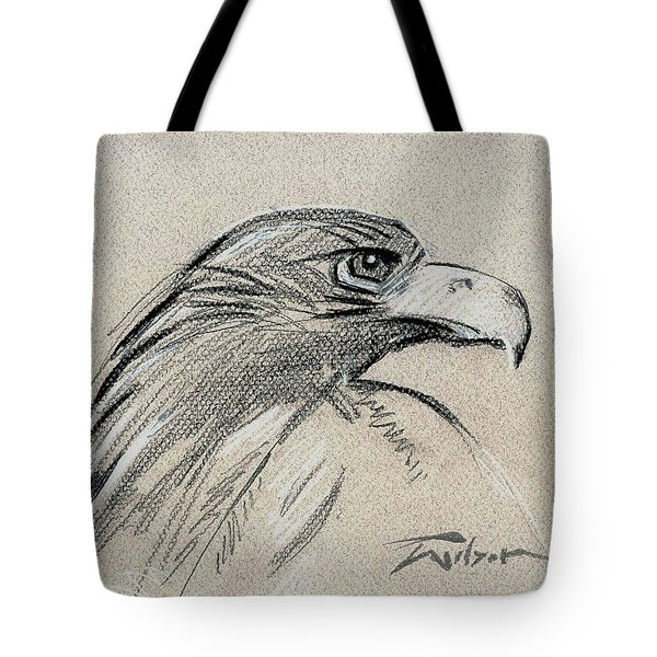 Raptor Two Tote Bag by Ron Wilson