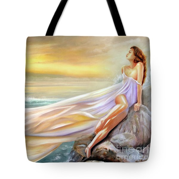 Rapture In Midst Of The Sea Tote Bag by Michael Rock