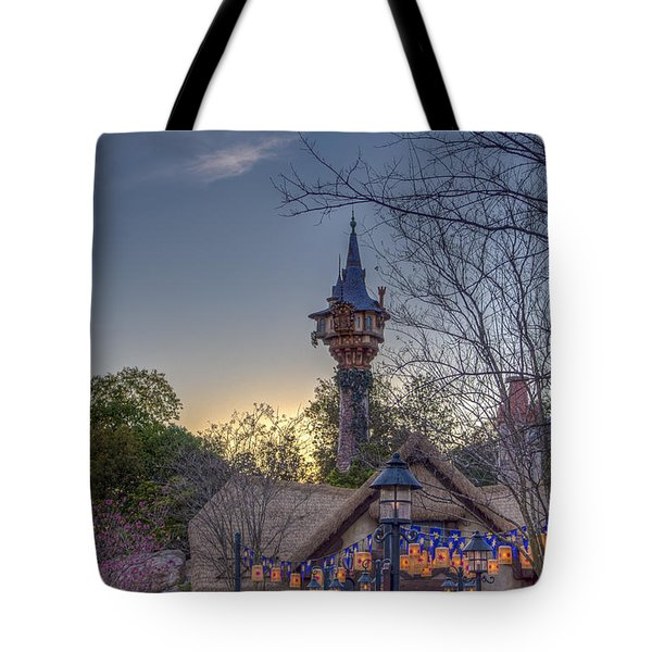 Rapunzel's Tower At Sunset Tote Bag