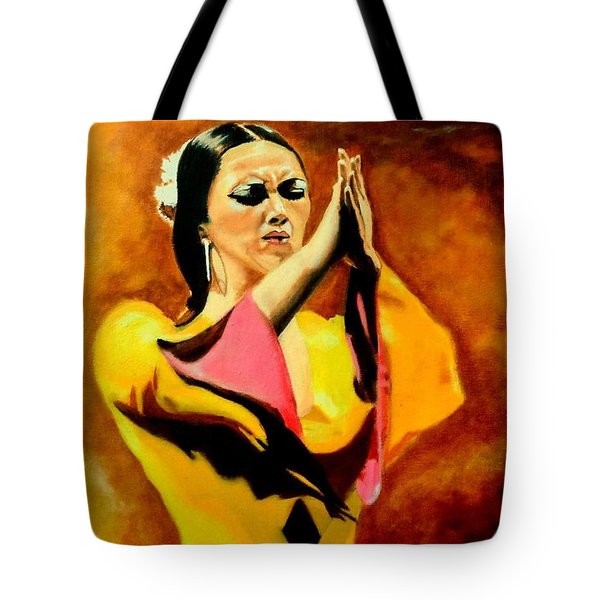 Raquel Heredia - Flamenco Dancer Sold Tote Bag