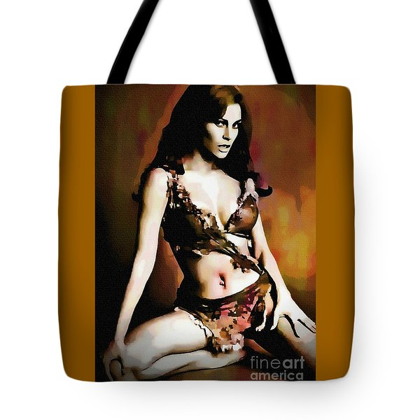 Raquel Welch - One Million Years B.c.  Tote Bag