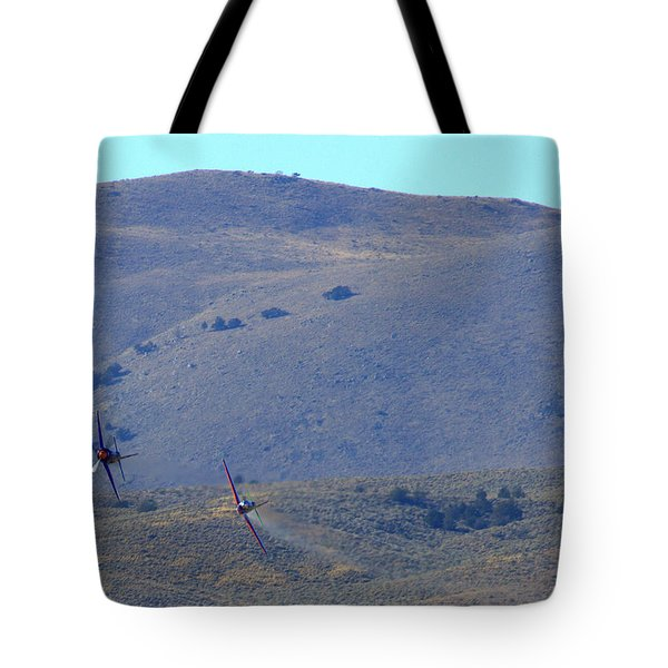 Rare Bear Challenges Voodoo For Second Coming Out Of Valley Of Speed Tote Bag