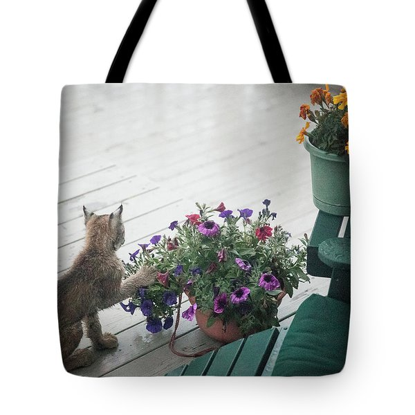 Swat The Petunias Tote Bag