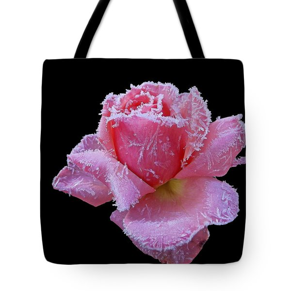 Rare Winter Rose Tote Bag