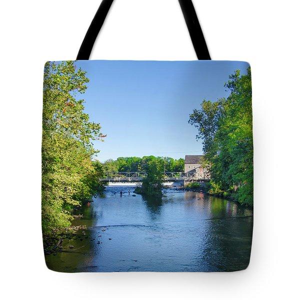 Raritan River - Clinton New Jersey  Tote Bag by Bill Cannon