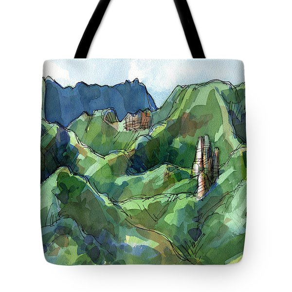 Rarotonga, Raemaru Mountain View Tote Bag