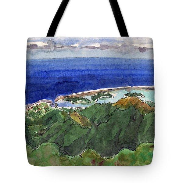 Rarotonga, View From Te Manga Tote Bag