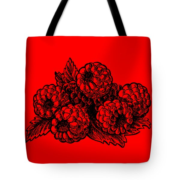 Rasbperries Tote Bag