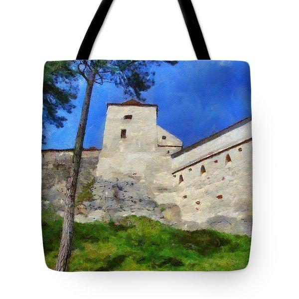 Rasnov Fortress Tote Bag by Jeff Kolker