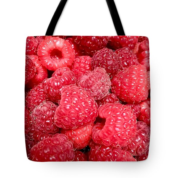 Tote Bag featuring the photograph Raspberries by Cristina Stefan