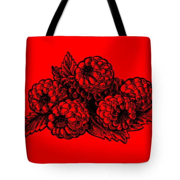 Raspberries Image Tote Bag