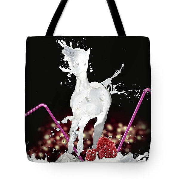 Raspberry Coctail And A Horse Tote Bag