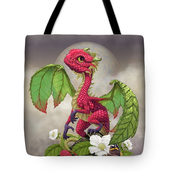 Tote Bag featuring the digital art Raspberry Dragon by Stanley Morrison
