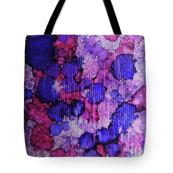 Tote Bag featuring the painting Raspberry Rain Ink #19 by Sarajane Helm